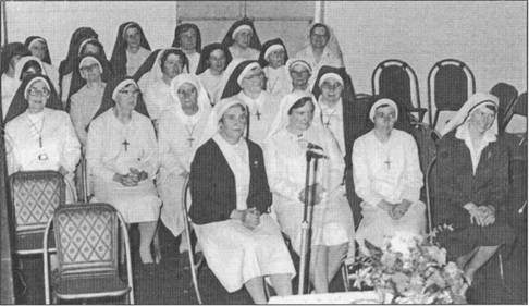 The Sisters of St Joseph assembled at the Berry School of Arts for a Testimonial Evening, Nov. 1978